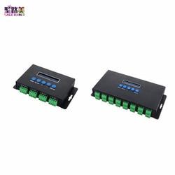 BC-204 BC-216 DC5V-24V Artnet Eternet à SPI/DMX pixel contrôleur de lumière led sortie 4 canaux 16 canaux pour 2811 2812 2801