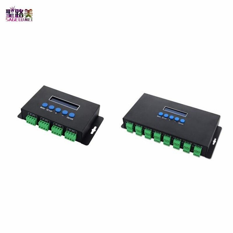 BC-204 BC-216 DC5V-24V Artnet Eternet para SPI/controlador do diodo emissor de luz do pixel DMX canais 16 4 canais de Saída Para 2811 2812 2801