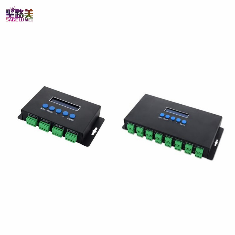 BC-204 BC-216 DC5V-24V Artnet Eternet zu SPI/DMX pixel led licht controller Ausgang 4 kanäle 16 kanäle Für 2811 2812 2801