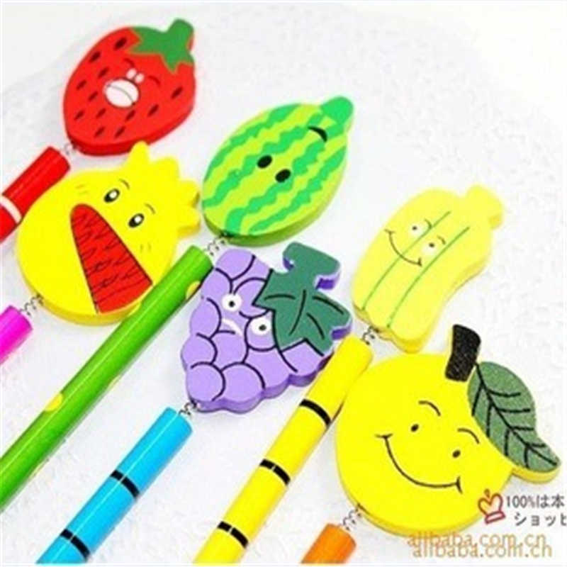 B315 韓国文具木造漫画ファンシー学生ギフトフラットフルーツ鉛筆教育機器事務用品のための学生のための