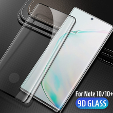 9D กระจกนิรภัยสำหรับ Samsung note 10 หน้าจอแก้วขอบโค้งสำหรับ Samsung หมายเหตุ 10 Plus 10 + pro ป้องกัน