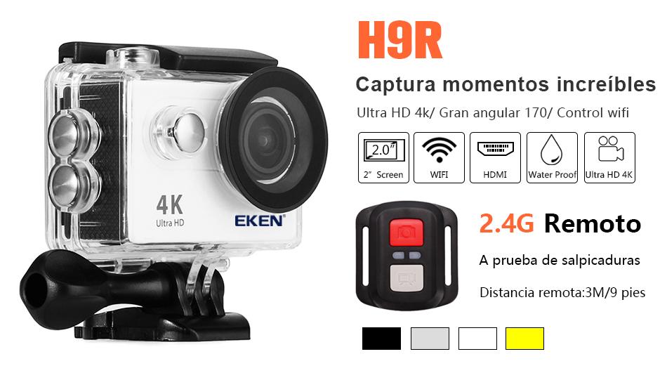 """EKEN H9R/H9 Ultra HD 4 K/30fps WiFi 2,0 """"170D impermeable bajo el agua 14"""