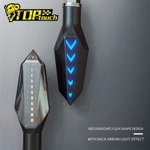 Ruhu BEAST motosiklet dönüş işıkları su geçirmez modifiye araba dönüş ışıkları LED yön ışıkları dekoratif ışıklar #