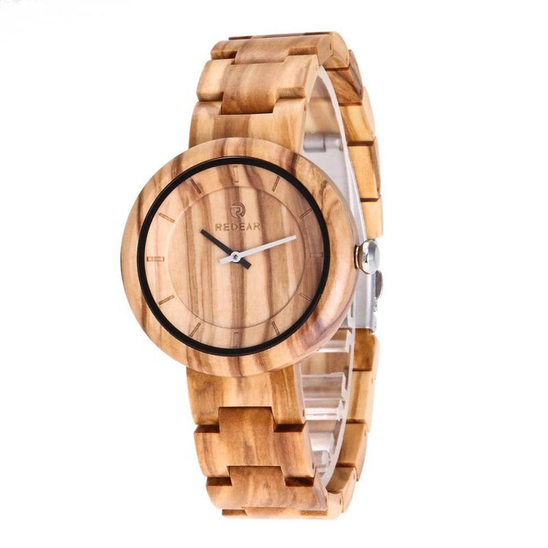 Ebay Wish The New European And American Fashion Big Dial Wooden Table Fashion Quartz Watch Olive Wood Table