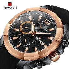 Награда класса люкс из розового золота спортивные часы большой