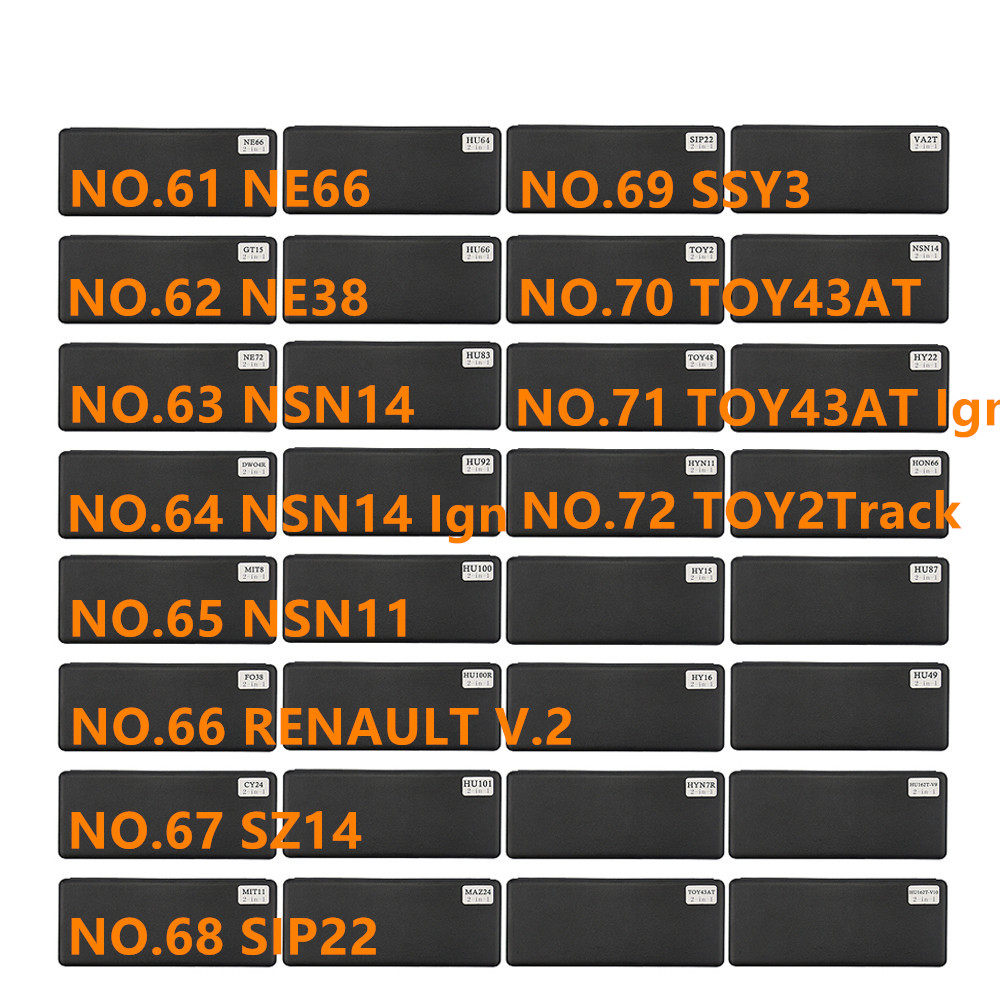 diastar 61 72 lishi 2 in 1 tool NE66 NE38 NSN14 Ign NSN11 SZ14 SIP22 SSY3 TOY43AT TOY 2 track for Renault V.2Locksmith Supplies   -