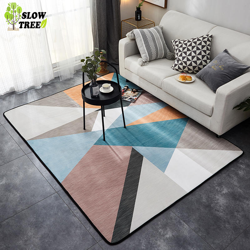 Flannel Rugs And Carpets For Home Living Room Non-slip Washable Coffee Table Bedroom Area Children's Rug 150*190cm