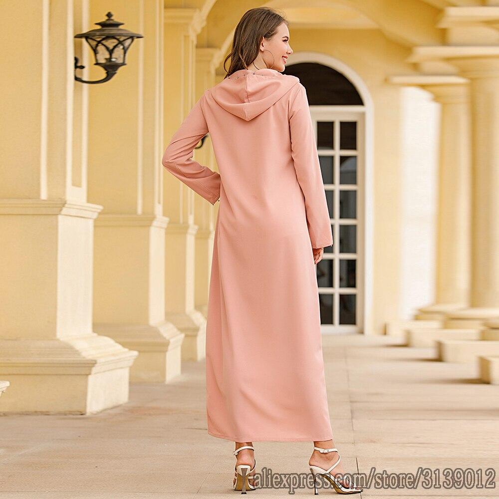 Robe Musulman Djellaba Femme Eid Kaftan Dubai Abaya Turkey Hijab Muslim Dress Ramadan Caftan Islamic Clothing Abayas For Women Women Women's Abaya Women's Clothings cb5feb1b7314637725a2e7: black dress|Dark blue dress|Dark Red dress|Khaki dress|light blue dress|Orange pink dress