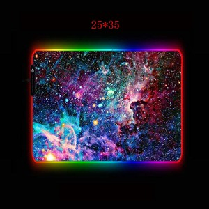 Image 5 - XGZ Space RGB Mouse Pad Gaming Mouse Pad Large Computer Mouse Pad Gamer XXL Mousepad LED Backlight Mause Pad Keyboard Desk Mat