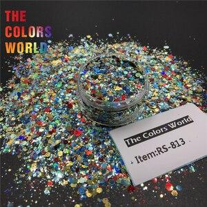 Image 2 - TCT 379 láser camaleón cambio de Color grueso mezcla hexágono brillo para uñas arte decoración arte corporal maquillaje vaso manualidades Festival