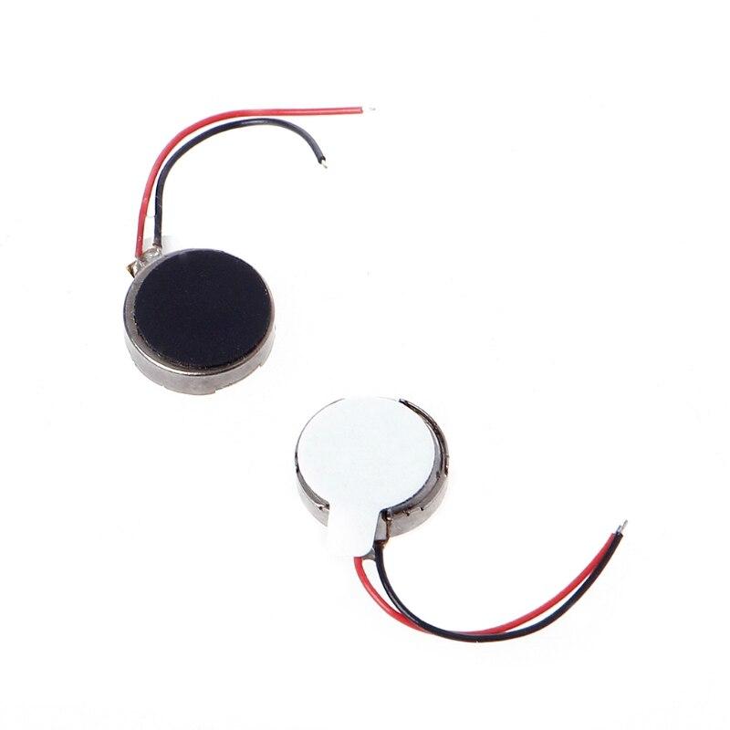 10x DC 3V 70mA 12000±2500RPM Phone Coin Flat Vibrating Vibration Motor