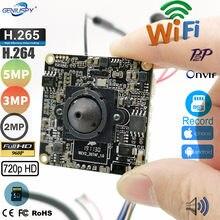720p 960p 1080p 2mp 3mp 5mp hd onvif p2p tamanho 38*38mm hi3518e hi3516e áudio módulo de câmera ip sem fio wi fi slot para cartão sd camhi