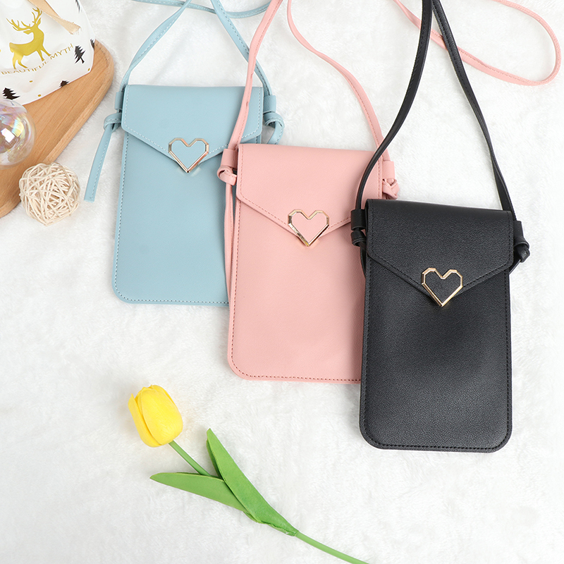 Touch Screen Women Bag Cell Phone Smartphone Wallet Leather Shoulder Strap Bag
