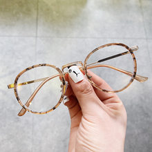 Lunettes optiques rondes ambrées Anti lumière bleue, pour femmes et hommes, avec filtre Anti rayons bleus transparents, sans prescription, montures de lunettes rétro