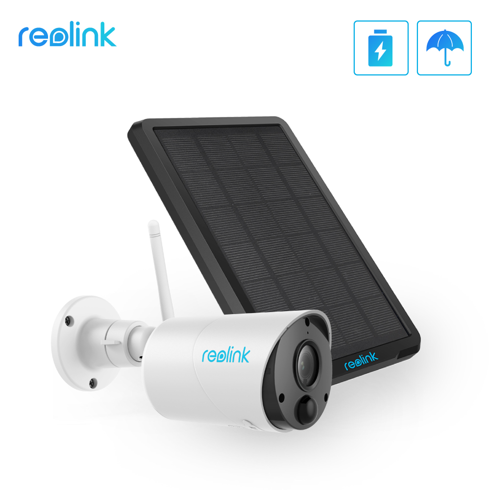 Reolink Wifi-Camera Audio-Sd-Card-Slot Solar-Panel Eco Outdoor Indoor-Use Argus Full-Hd title=