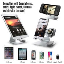 HobbyLane 2 in 1 Cell Phone Watch Stand Holder For Nintend Switch iPhone iWatch (38 mm & 4 mm) iPad Tablet(4-13 inch) d20