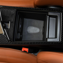Carbon Fiber Armrest Frame Cover Trim for Alfa Romeo Giulia 2017-2019 Interior Decoration Car Accessories Car Decal Stickers carbon fiber inner door handle bowl cover trim for alfa romeo giulia 2017 2019 interior decoration car accessories car stickers
