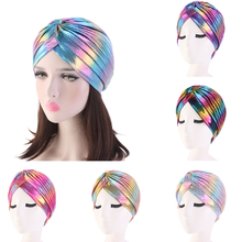 2020 mulheres bandanas elásticas quimio hijab muculmano chapeu turbante bandana urdidura feminino atada boné indiano adulto cabec