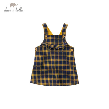 DBM14553-2 dave bella autumn baby girl's princess plaid strap dress lolita party suspenders dress toddler children clothes image