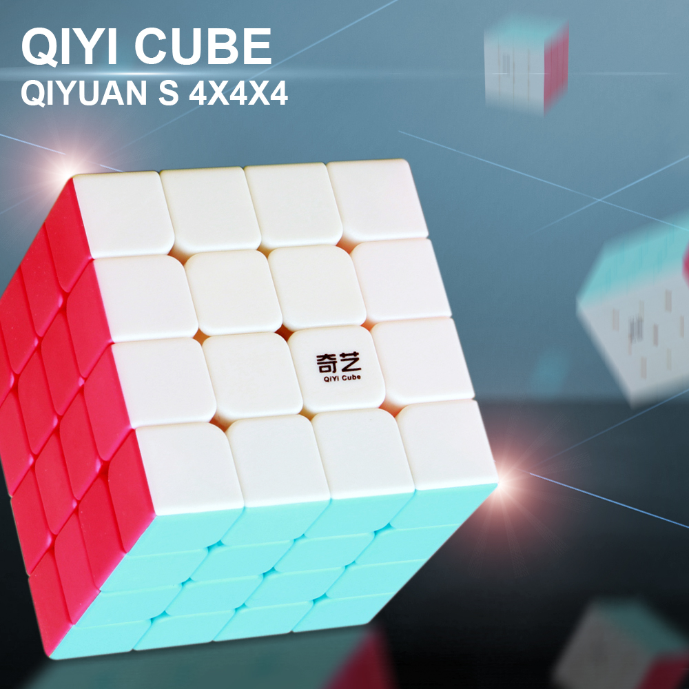 <font><b>QiYi</b></font> <font><b>QiYuan</b></font> <font><b>S</b></font> 4x4x4 Magic Speed Cube Stickerless Professional Puzzle Cubes Educational Toys For Children <font><b>qiyi</b></font> cubo magico <font><b>4x4</b></font> image