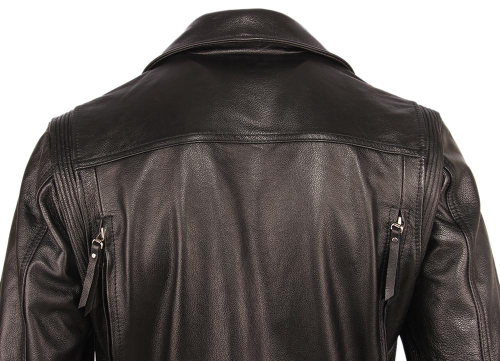 H93f4e7499e38469d85b4049ed53f5845M Vintage Motorcycle Jacket Slim Fit Thick Men Leather Jacket 100% Cowhide Moto Biker Jacket Man Leather Coat Winter Warm M455