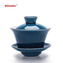 Чайная супница Celadon 140 мл чайный набор кунг-фу, китайский кунг-фу цветок Gaiwan пуэр чайник, чайник для влюбленных должны быть аксессуары для чая