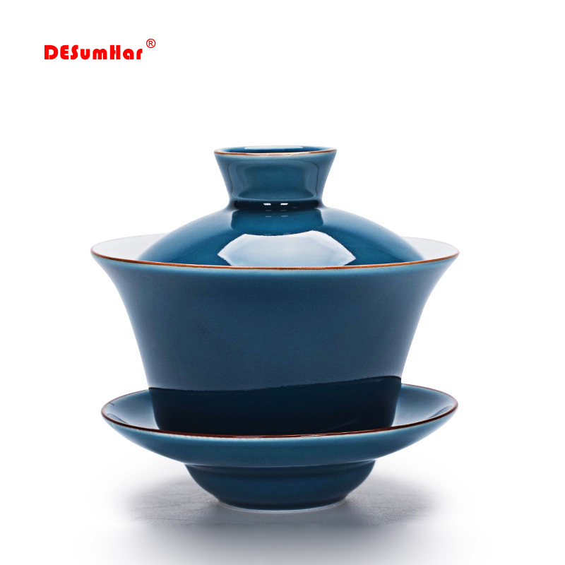 Celadon Tea Tureen 140ml Kung Fu Tea Set,Chinese Kung Fu Flower Gaiwan  Puer Kettle,Teapot Lovers Must Have Tea Accessories