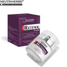 % 2.5% Retinol nemlendirici yüz kremi hyaluronik asit vitamini E kollajen Anti Aging kırışıklık vitamini pürüzsüz beyazlatıcı krem 50ml