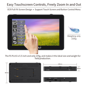 Image 3 - FEELWORLD F6 PLUS 4K Monitor 5.5 Inch on Camera DSLR Field 3D LUT Touch Screen IPS FHD 1920x1080 Video Focus Assist Support HDMI