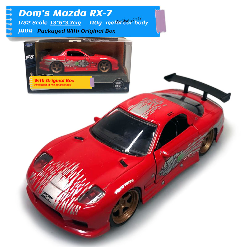 JADA 1/32 Scale Car Model Toys Classic Mazda RX-7 Diecast Metal Car Model Toy For Children,Gift,Collection