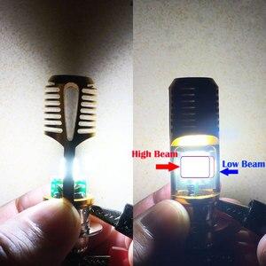 Image 5 - H6M P15D LED אופנוע פנס אופנוע DRL ערפל אור 1200LM 6000K P15D 25 1 LED Moto קטנוע טרקטורונים אביזרי עבור סוזוקי 12V