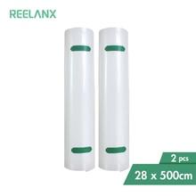 REELANX bolsas de vacío, 2 rollos, 28x500cm, para sellador al vacío de alimentos, máquina de embalaje
