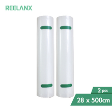 Sacchetti sottovuoto REELANX 2 rotoli 28*500cm per confezionatrice sottovuoto per alimenti