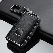 דבק עור אבץ סגסוגת רכב מפתח case כיסוי עבור מאזדה 3 Alexa CX4 CX5 CX8 2019 2020 3 כפתור חכם מפתח
