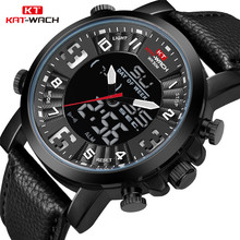 KT Top Brand Watches Men 2020 Leather Ba