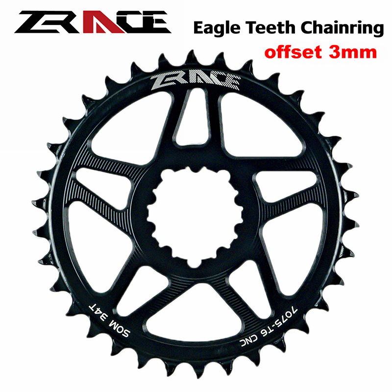 ZRACE 10 11 12S Speed Eagle Tooth Crankset Chainring MTB Chainwheel Offset 3mm For SRAM Direct Mount Crank, Compatible Eagle image