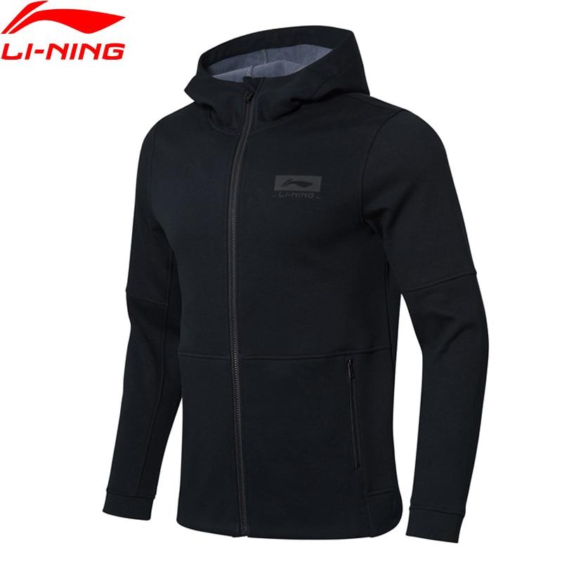 Li-Ning Men Basketball Hoodie Jackets Warm Fleece Regular Fit 72%Cotton 28%Polyester Li Ning LiNing Sports Tops AWDN873 MWW1505