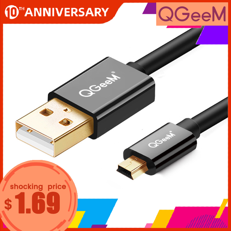 Mini USB Cable Mini USB to USB Fast Data Charger Cable for Cellular Phones MP3 MP4 Player GPS Digital Camera HDD Mini USB