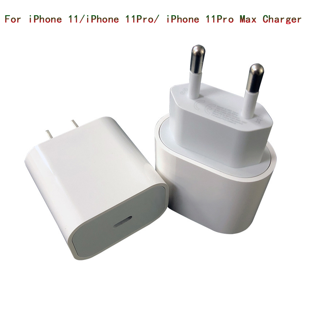 18W Quick Fast Charging PD Charger for Apple IPhone 11 Pro XR XS Max IPad USB Type C Euro/US Travel Power Mobile Phone Adapter