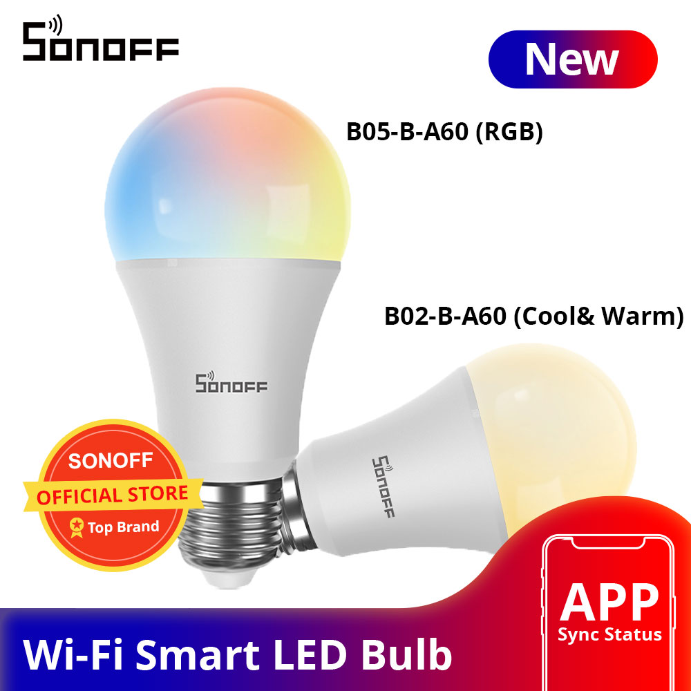 Sonoff B02-B-A60/ B05-B-A60 Wifi Smart Led Lamp E27 Dimbare Rgb Lamp Lampen 9W Voor Smart Home Automation Ewelink app Controle 1