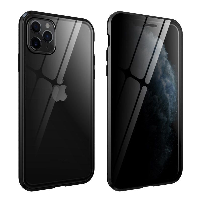 360 Protect Magnetic Case For Iphone 11 Pro MAX Shockproof Transparent Glass Cover Metal Frame Sfor Iphone11 Pro Luxury Armor