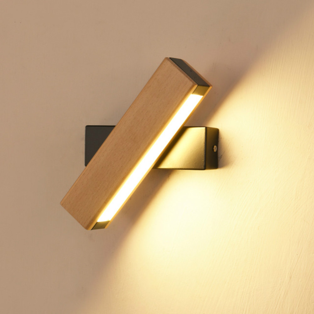<font><b>Nordic</b></font> simple Wooden LED <font><b>Wall</b></font> <font><b>Lamp</b></font> Modern Adjustable Lighting bar restaurant Living room Porch <font><b>Wall</b></font> <font><b>Lamps</b></font> Corridor decor image