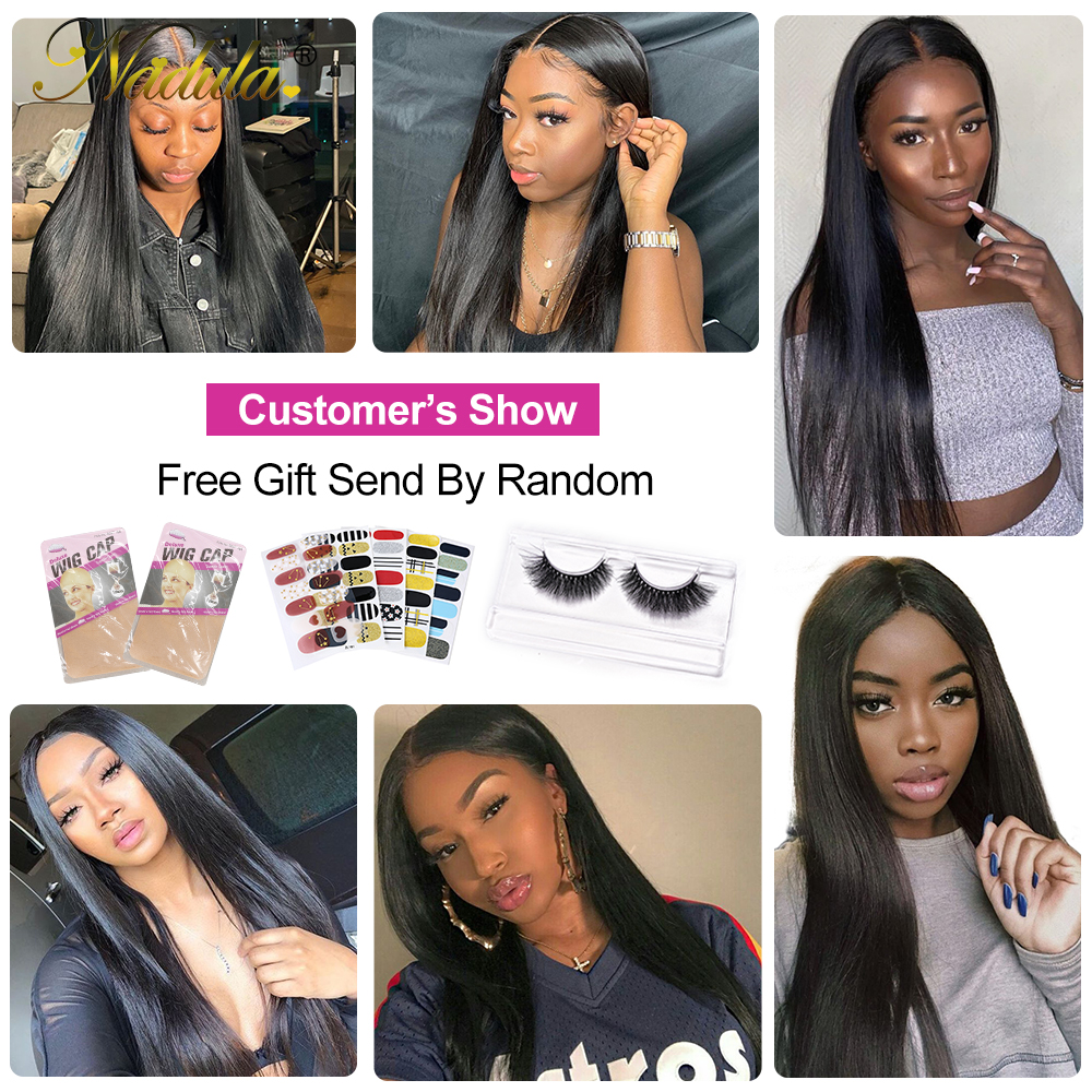 Nadula Straight Hair Deep Part Lace Frontal Wigs 13X1  Lace Front Wig T PART Lace Front Pre plucked Wigs 150 Density 6
