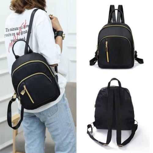 Handbag Fashion Black Small Backpack Travel Women New Nylon Shoulder Bag