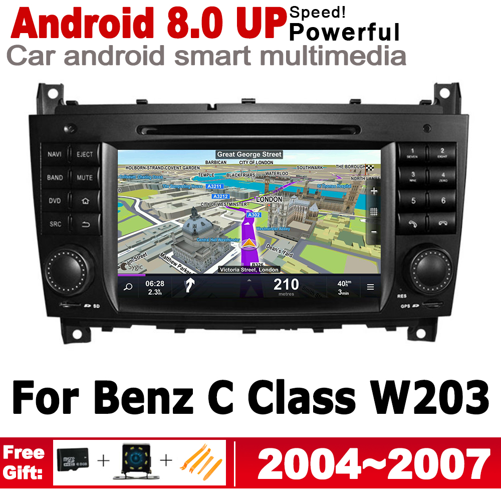 For Mercedes <font><b>Benz</b></font> C Class <font><b>W203</b></font> 2004 2005 2006 2007 NTG IPS Android Car DVD GPS <font><b>Navi</b></font> Map 2 DIN multimedia player <font><b>radio</b></font> System image