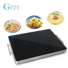 GZZT Food Wraming Tray 220V Keep Dish Warming Black/Sliver 400W Electric Food Heating Plate for food meals Commercial