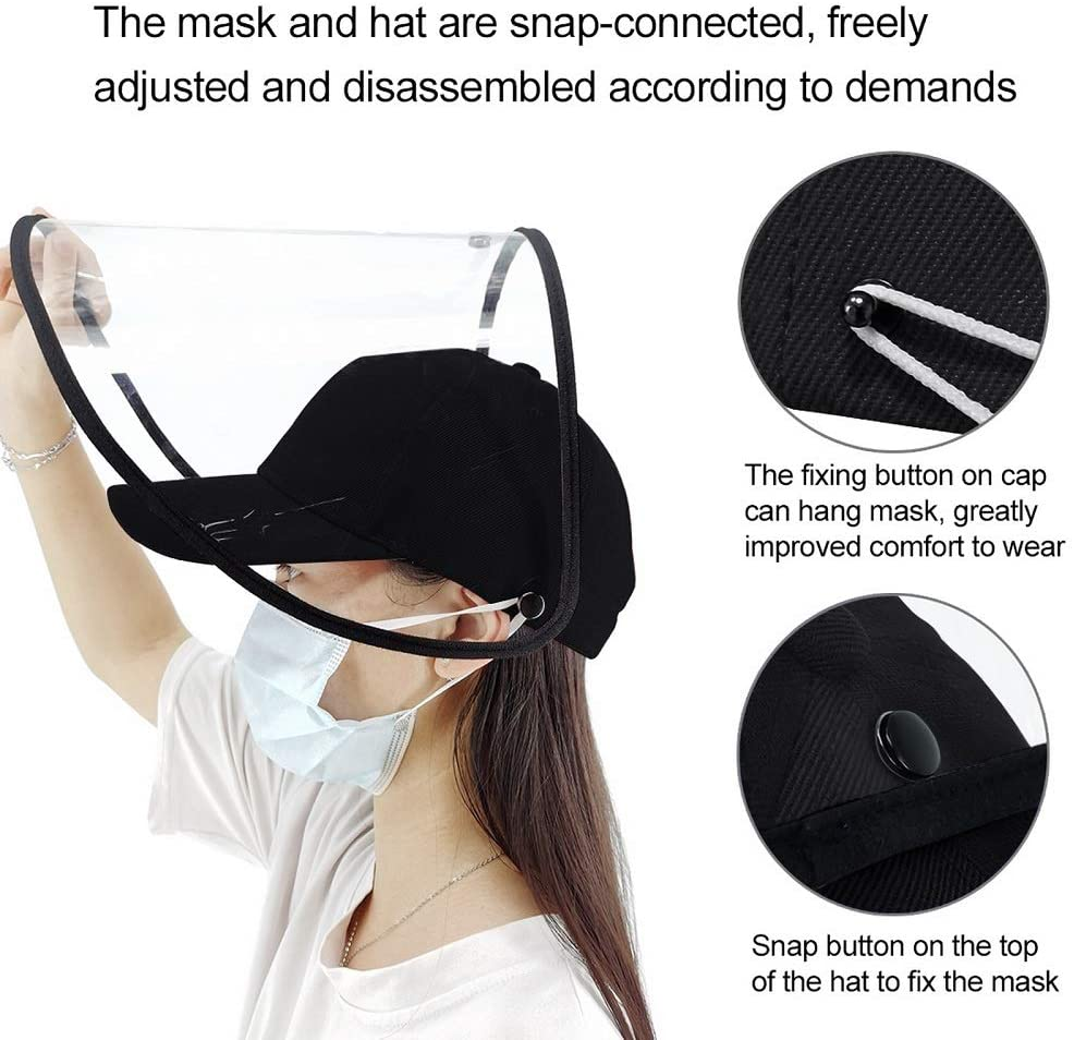 1pc/2pcs/4pcs Clear Face Cover and Face Shield Protective Hats for Full Face Protection 3