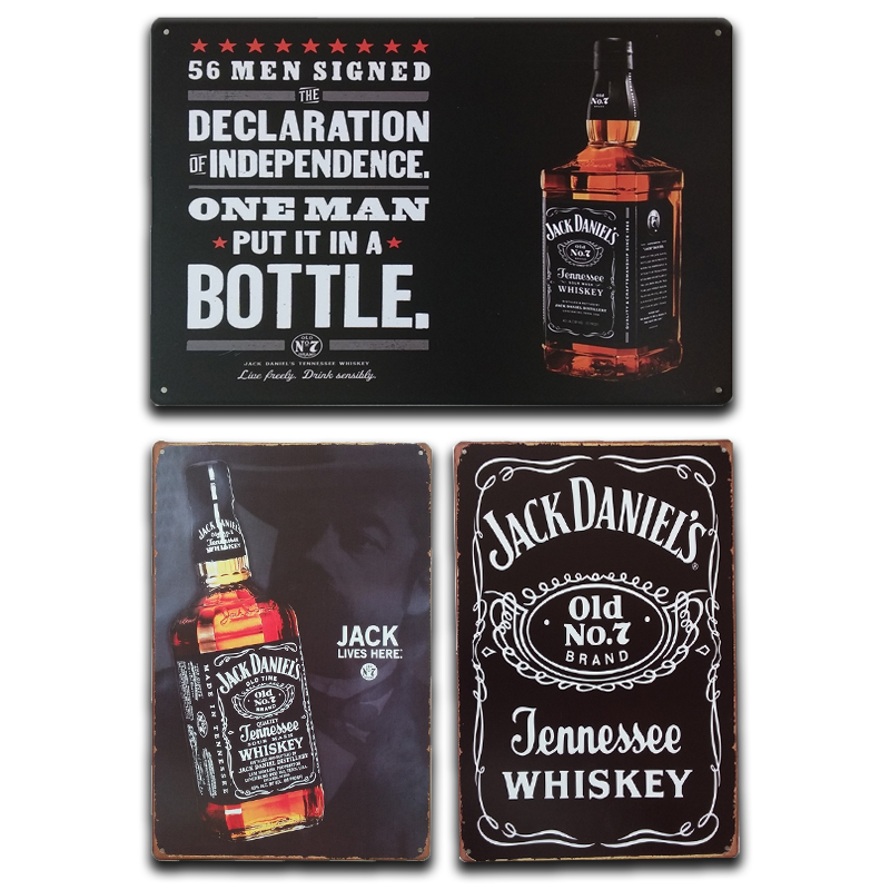 Old Granddad whiskey vintage label ad reproduction steel sign bar decor