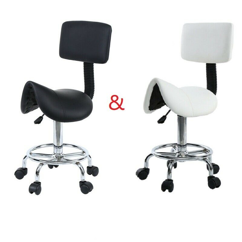 Amonstar Saddle Chair Roller Stool Swivel Chair Office Chair Cosmetic Stool For Spa Beauty Hairdressing