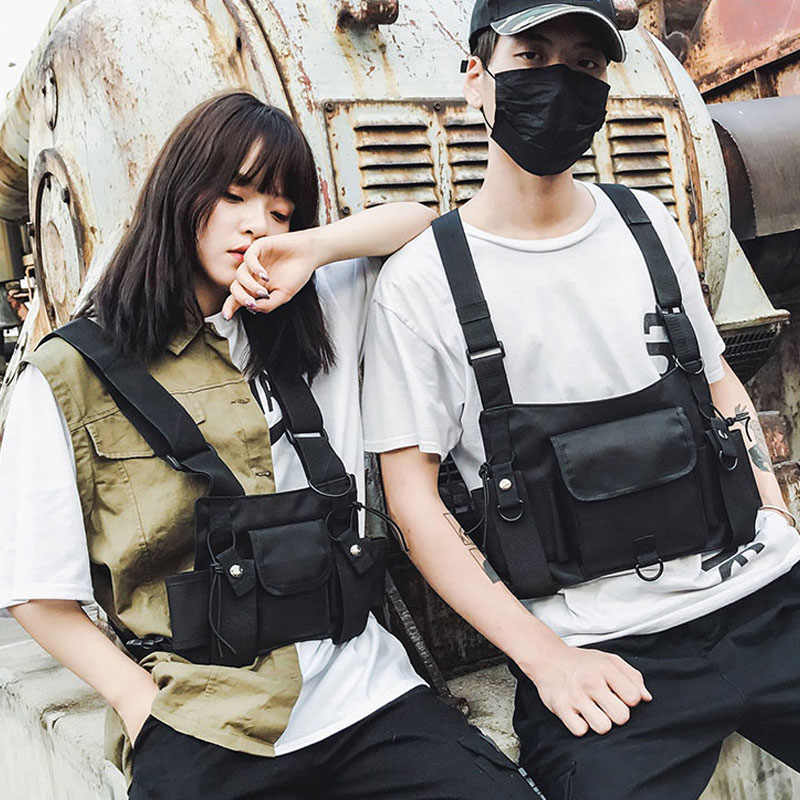 sacoche Sac tactiquesac décontracté Style extérieur Hip Hop Streetwear sport